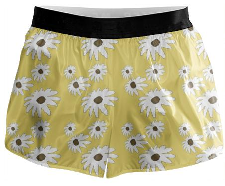 White Daisy Running Shorts