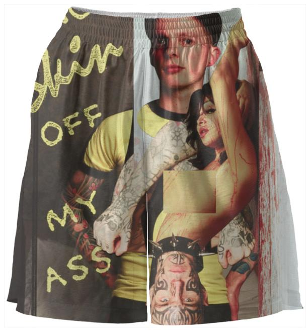 PAOM, Print All Over Me, digital print, design, fashion, style, collaboration, bruce-la-bruce, bruce la bruce, Basketball Shorts, Basketball-Shorts, BasketballShorts, Bruce, LaBruce, Damien, Blottiere, Short, spring summer, unisex, Poly, Bottoms