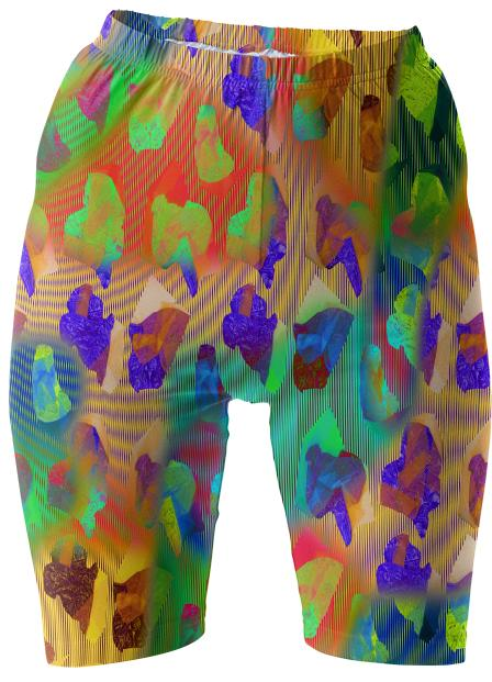 PAOM, Print All Over Me, digital print, design, fashion, style, collaboration, carmel-snow, carmel snow, Bike Shorts, Bike-Shorts, BikeShorts, Moire, magico, wavy, booty, short, spring summer, unisex, Spandex, Bottoms