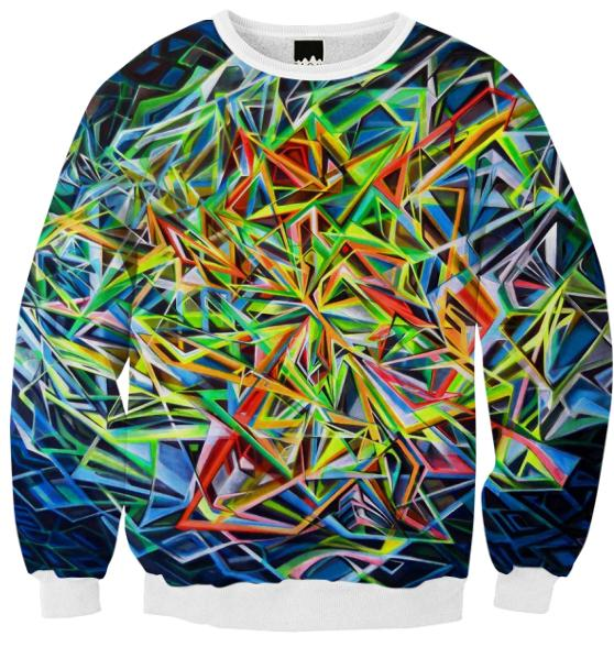 MAYAN SPACE Ribbed Sweatshirt