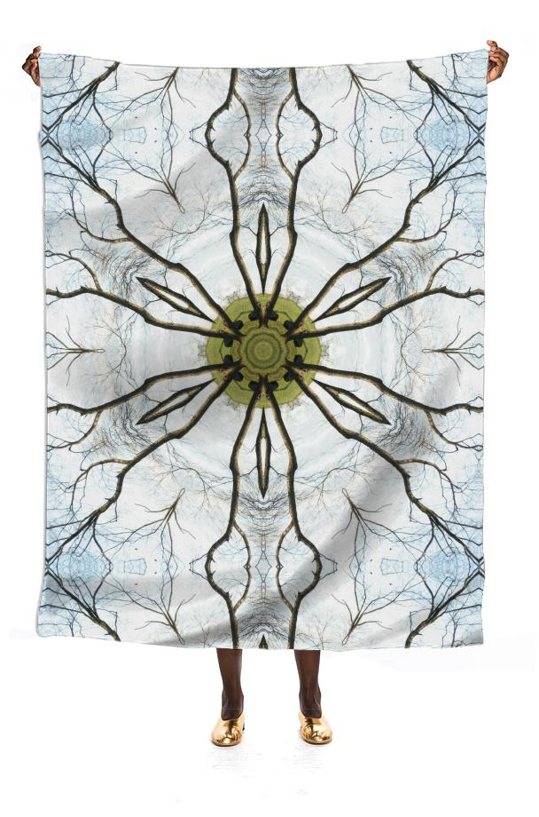 Winter s Landscape VP SILK SCARF by Dovetail Designs