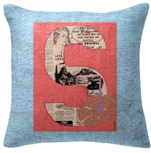 PAOM, Print All Over Me, digital print, design, fashion, style, collaboration, trey-speegle, trey speegle, Pillow, Pillow, Pillow, for, blue, autumn winter spring summer, unisex, Poly, Home