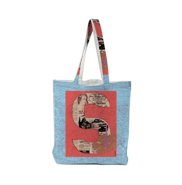PAOM, Print All Over Me, digital print, design, fashion, style, collaboration, trey-speegle, trey speegle, Tote Bag, Tote-Bag, ToteBag, for, blue, autumn winter spring summer, unisex, Poly, Bags