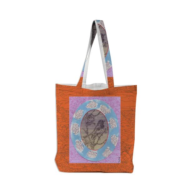 PAOM, Print All Over Me, digital print, design, fashion, style, collaboration, trey-speegle, trey speegle, Tote Bag, Tote-Bag, ToteBag, for, orange, autumn winter spring summer, unisex, Poly, Bags