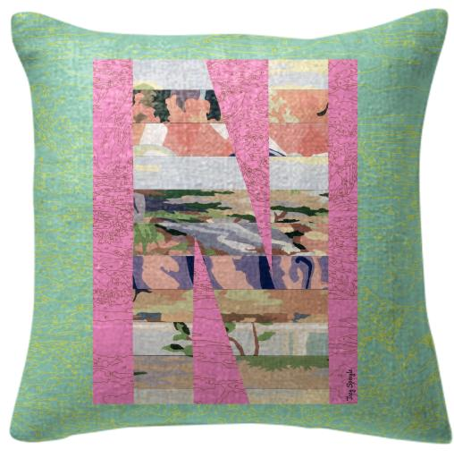 PAOM, Print All Over Me, digital print, design, fashion, style, collaboration, trey-speegle, trey speegle, Pillow, Pillow, Pillow, for, green, autumn winter spring summer, unisex, Poly, Home