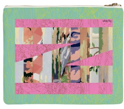 PAOM, Print All Over Me, digital print, design, fashion, style, collaboration, trey-speegle, trey speegle, Clutch, Clutch, Clutch, for, green, autumn winter spring summer, unisex, Poly, Bags