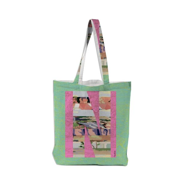 PAOM, Print All Over Me, digital print, design, fashion, style, collaboration, trey-speegle, trey speegle, Tote Bag, Tote-Bag, ToteBag, for, green, autumn winter spring summer, unisex, Poly, Bags