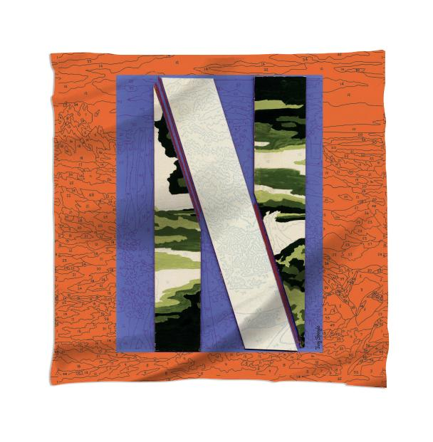 PAOM, Print All Over Me, digital print, design, fashion, style, collaboration, trey-speegle, trey speegle, Scarf, Scarf, Scarf, for, orange, autumn winter spring summer, unisex, Rayon, Accessories