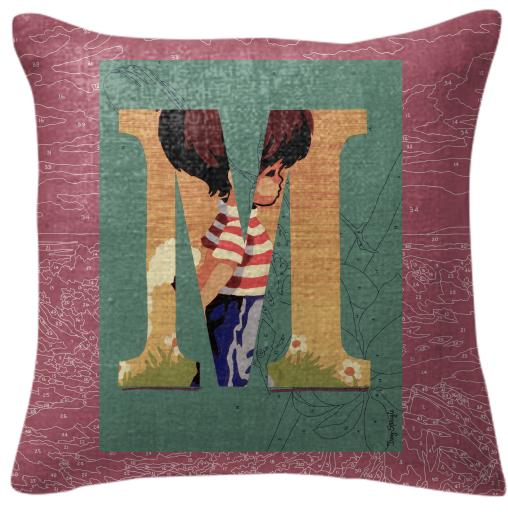 PAOM, Print All Over Me, digital print, design, fashion, style, collaboration, trey-speegle, trey speegle, Pillow, Pillow, Pillow, for, purple, autumn winter spring summer, unisex, Poly, Home
