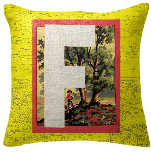 PAOM, Print All Over Me, digital print, design, fashion, style, collaboration, trey-speegle, trey speegle, Pillow, Pillow, Pillow, for, yellow, autumn winter spring summer, unisex, Poly, Home