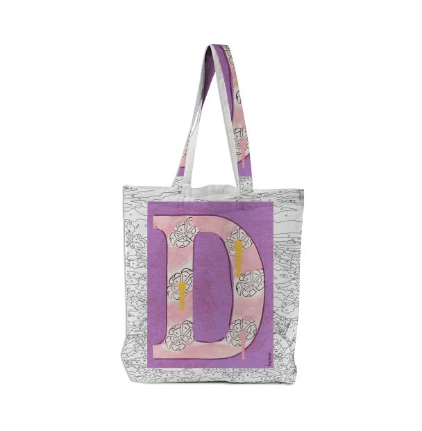 PAOM, Print All Over Me, digital print, design, fashion, style, collaboration, trey-speegle, trey speegle, Tote Bag, Tote-Bag, ToteBag, for, purple, autumn winter spring summer, unisex, Poly, Bags