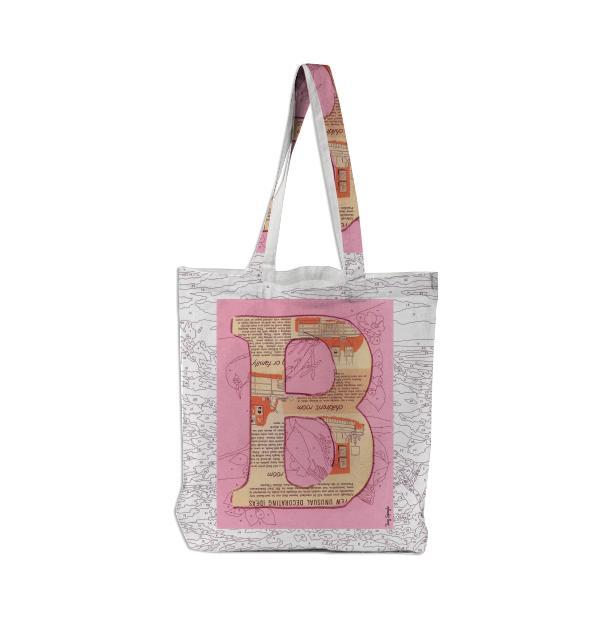PAOM, Print All Over Me, digital print, design, fashion, style, collaboration, trey-speegle, trey speegle, Tote Bag, Tote-Bag, ToteBag, for, pink, autumn winter spring summer, unisex, Poly, Bags