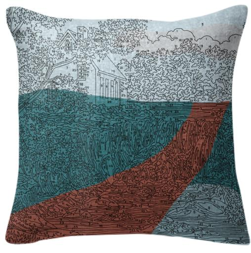 PAOM, Print All Over Me, digital print, design, fashion, style, collaboration, trey-speegle, trey speegle, Pillow, Pillow, Pillow, Abstract, Waterfall, road, autumn winter spring summer, unisex, Poly, Home