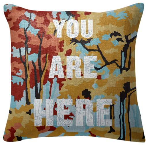 PAOM, Print All Over Me, digital print, design, fashion, style, collaboration, trey-speegle, trey speegle, Pillow, Pillow, Pillow, You, Are, Here, autumn winter spring summer, unisex, Poly, Home