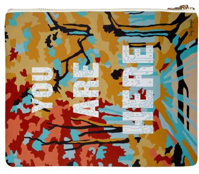 PAOM, Print All Over Me, digital print, design, fashion, style, collaboration, trey-speegle, trey speegle, Clutch, Clutch, Clutch, You, Are, Here, autumn winter spring summer, unisex, Poly, Bags