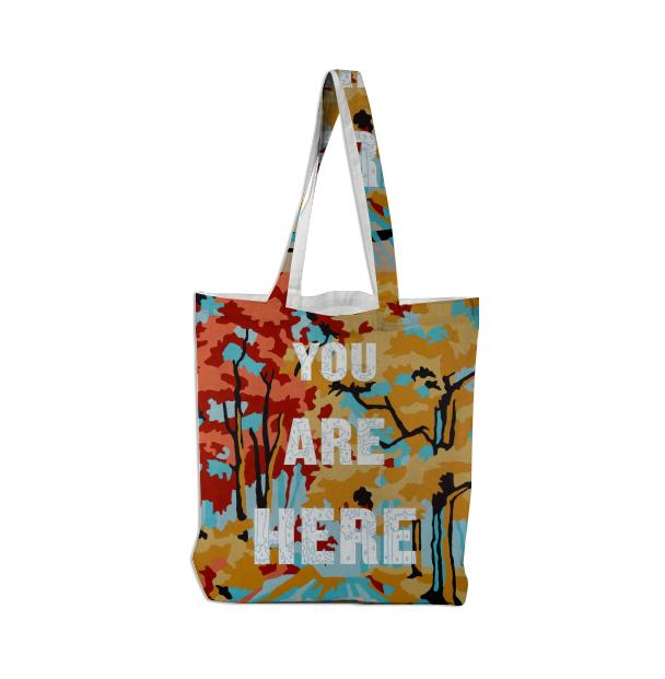 PAOM, Print All Over Me, digital print, design, fashion, style, collaboration, trey-speegle, trey speegle, Tote Bag, Tote-Bag, ToteBag, You, Are, Here, autumn winter spring summer, unisex, Poly, Bags