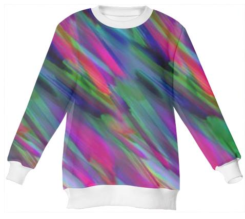 Neoprene Sweatshirt Colorful digital art splashing G400