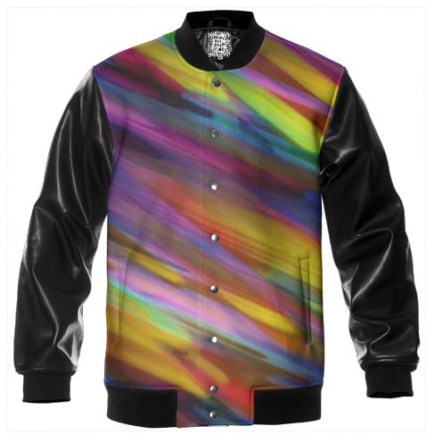 Varsity Jacket Colorful digital art splashing G398