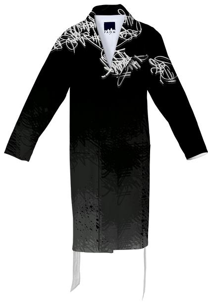 Names Scale Cotton Robe