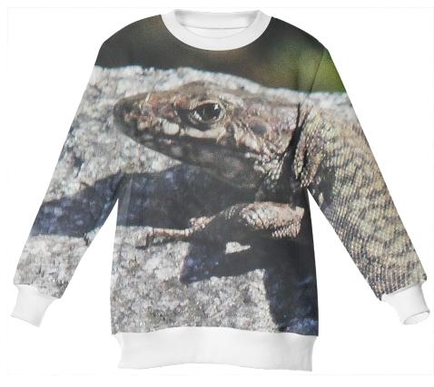 Neoprene sweatshirt lizzard