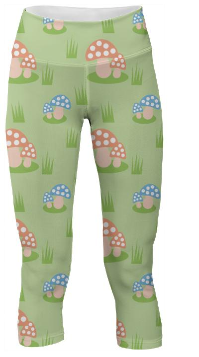 Mushrooms Yoga Pants