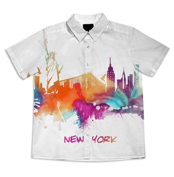 New York short sleeve blouse