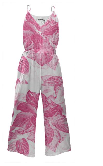 Pink Power Floral Jumpsuit