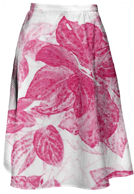 Pink Power Floral Midi Skirt