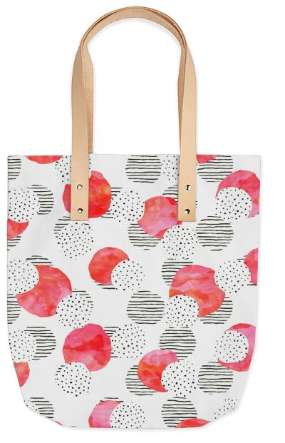 Flamingo Pink Summer Tote