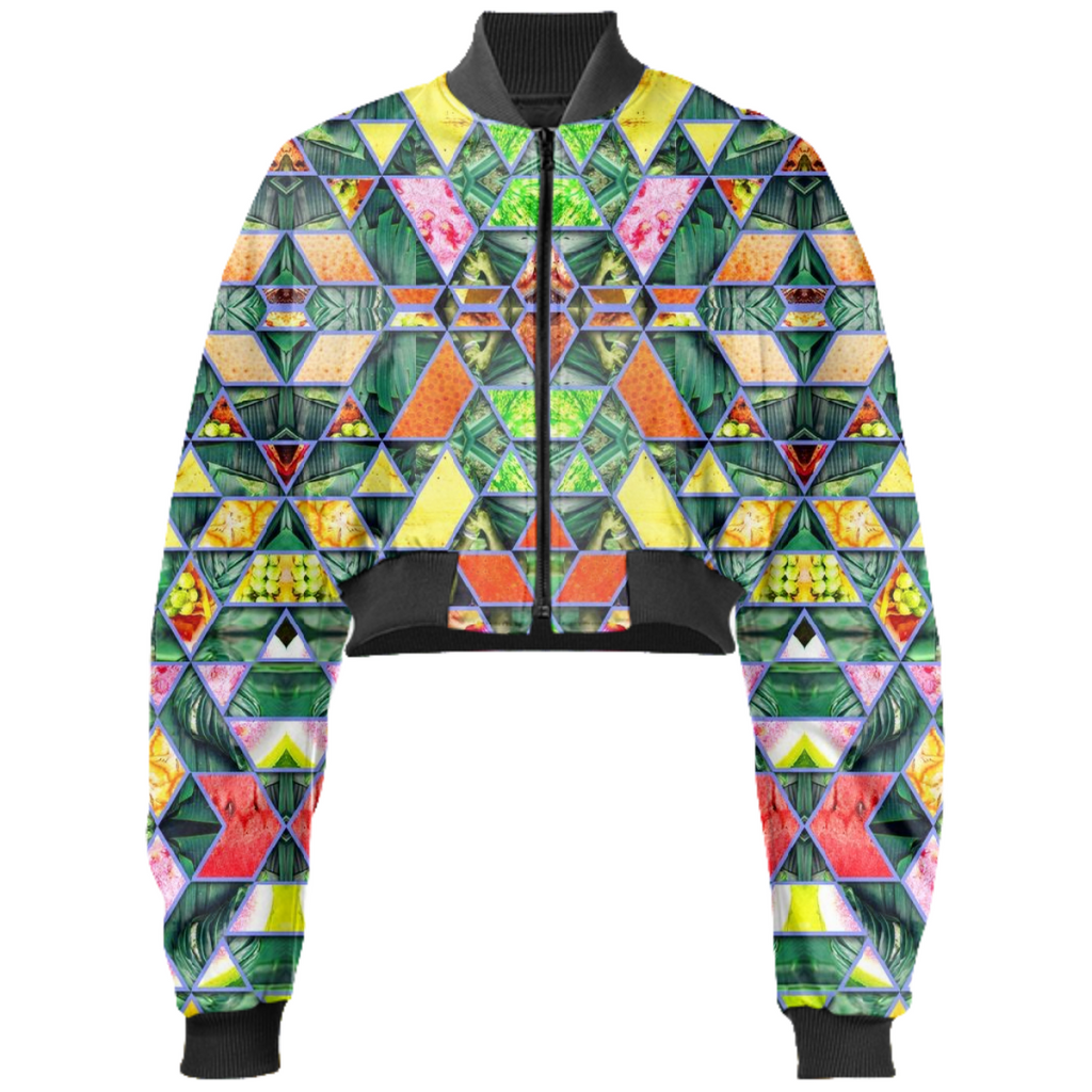 PAOM, Print All Over Me, digital print, design, fashion, style, collaboration, babyboofiji, Gabriel Held Cropped Bomber Jacket, Gabriel-Held-Cropped-Bomber-Jacket, GabrielHeldCroppedBomberJacket, Taste, Fiji, autumn winter, unisex, Neoprene, Outerwear