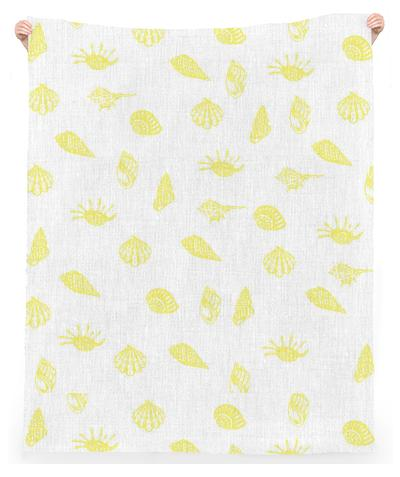Yellow Sea Shell Ocean Towel