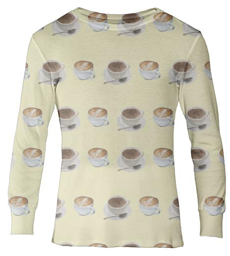 PAOM, Print All Over Me, digital print, design, fashion, style, collaboration, jhnmclghln, Thermal Top, Thermal-Top, ThermalTop, Hot, Drinks, autumn winter, unisex, Cotton, Tops