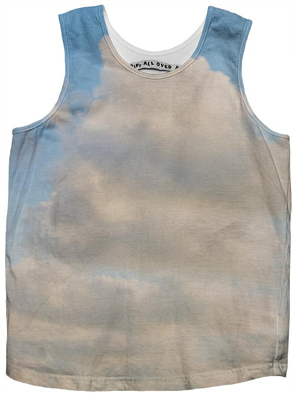 PAOM, Print All Over Me, digital print, design, fashion, style, collaboration, paomkids, Kids Tank Top, Kids-Tank-Top, KidsTankTop, cloud, autumn winter spring summer, unisex, Poly, Kids
