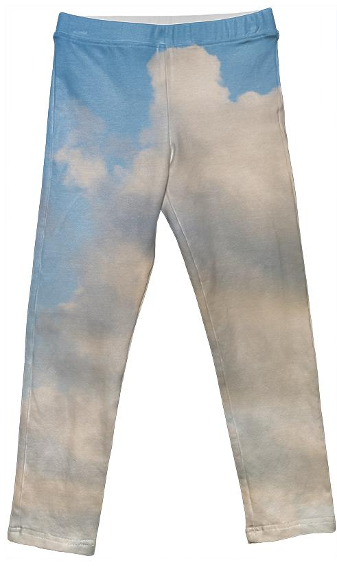 PAOM, Print All Over Me, digital print, design, fashion, style, collaboration, paomkids, Kids Leggings, Kids-Leggings, KidsLeggings, cloud, autumn winter spring summer, unisex, Spandex, Kids