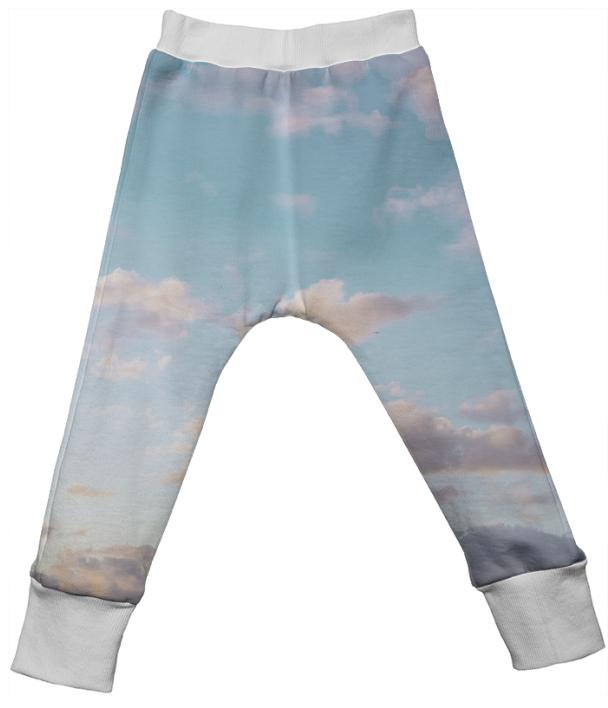 PAOM, Print All Over Me, digital print, design, fashion, style, collaboration, paomkids, Kids Drop Pant, Kids-Drop-Pant, KidsDropPant, cloud, autumn winter spring summer, unisex, Poly, Kids