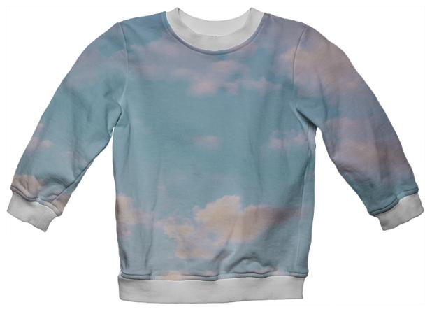 PAOM, Print All Over Me, digital print, design, fashion, style, collaboration, paomkids, Kids Sweatshirt, Kids-Sweatshirt, KidsSweatshirt, cloud, autumn winter spring summer, unisex, Poly, Kids