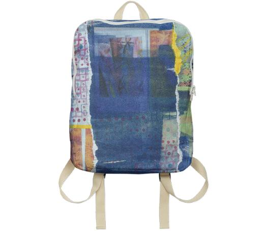 Blue Collage Backpack