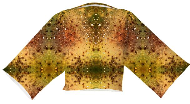 PSYCHEDELIC ABSTRACT ART on Neoprene Block Top Vision of an Alien World with Cracks and Craters
