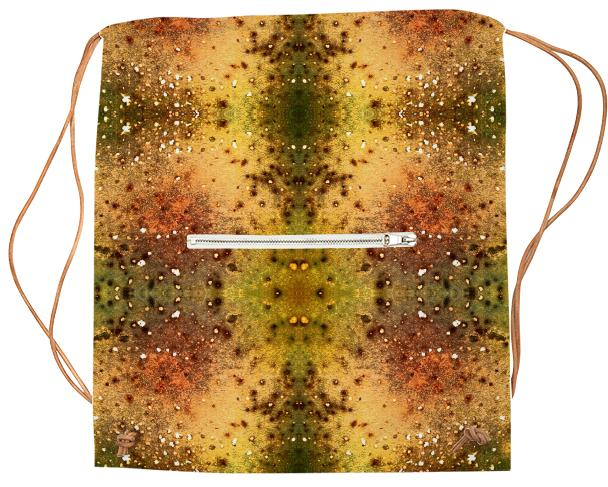 PSYCHEDELIC ABSTRACT ART on Sports Bag Vision of an Alien World with Cracks and Craters