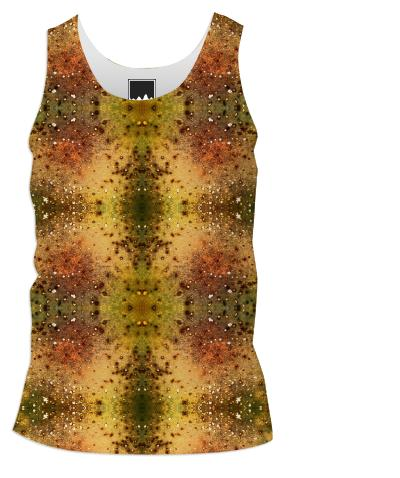 PSYCHEDELIC ABSTRACT ART on Men s Tank Top Vision of an Alien World with Cracks and Craters