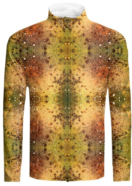 PSYCHEDELIC ABSTRACT ART on Tracksuit Jacket Vision of an Alien World with Cracks and Craters