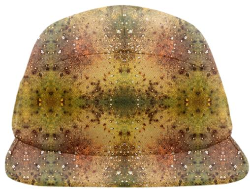 PSYCHEDELIC ABSTRACT ART on Baseball Hat Vision of an Alien World with Cracks and Craters