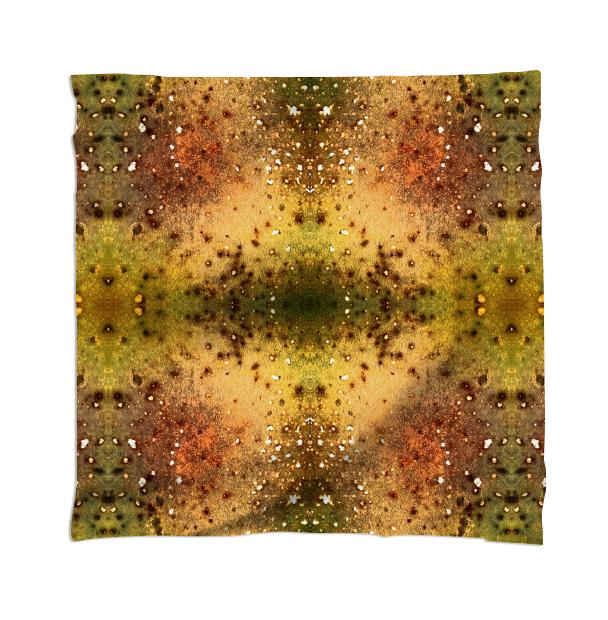 PSYCHEDELIC ABSTRACT ART on Scarf Vision of an Alien World with Cracks and Craters