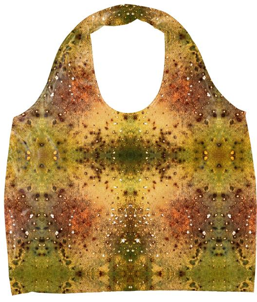 PSYCHEDELIC ABSTRACT ART on Eco Tote Vision of an Alien World with Cracks and Craters