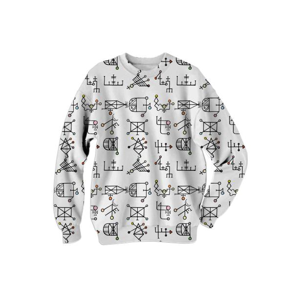 PAOM, Print All Over Me, digital print, design, fashion, style, collaboration, secretary, Cotton Sweatshirt, Cotton-Sweatshirt, CottonSweatshirt, Spiritum, Elementarium, autumn winter, unisex, Cotton, Tops