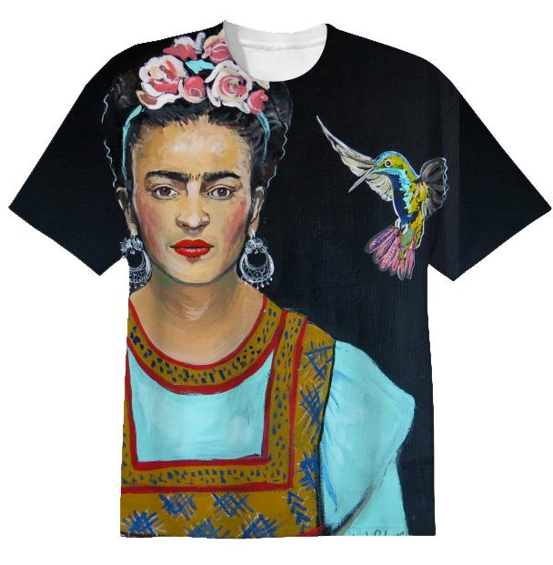 T Frida and her Hummingbird