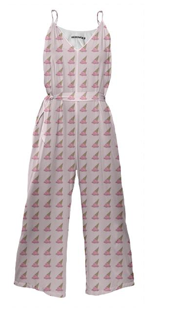 Yummy Icecream Tie Waist Jumpsuit