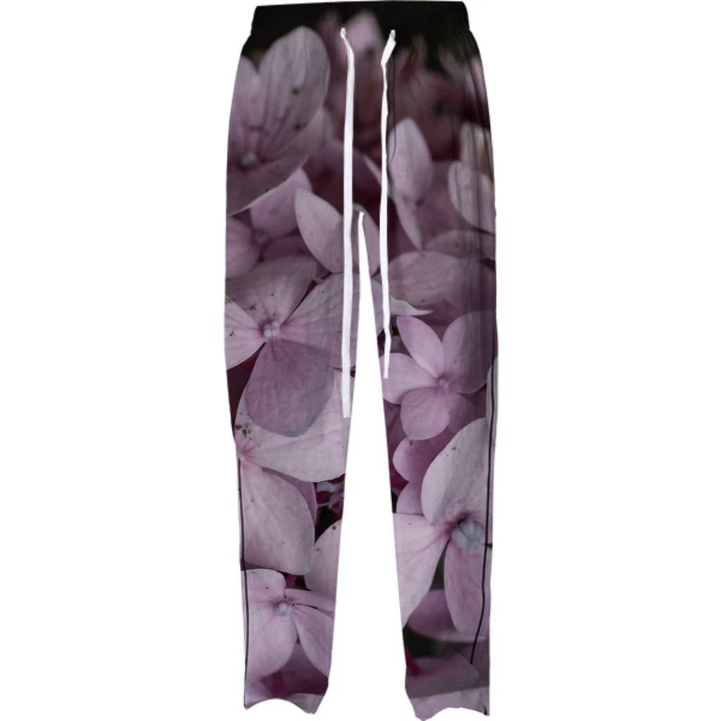 Pink Speckled Hydrangea Pajama Pant