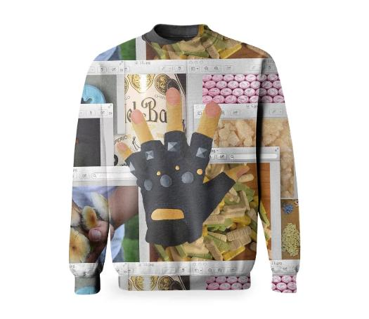 PAOM, Print All Over Me, digital print, design, fashion, style, collaboration, nada-x-paom, nada x paom, Basic Sweatshirt, Basic-Sweatshirt, BasicSweatshirt, Radames, Juni, Figueroa, autumn winter, unisex, Poly, Tops