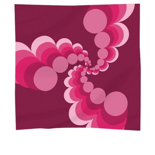 Raspberry Cocktail Silk Scarf